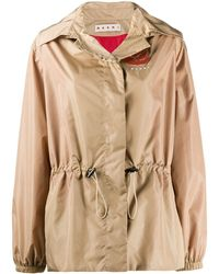 Marni Lightweight Hooded Jacket - Natural