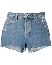 Rag & Bone Misha Distressed Denim Shorts - Blue