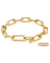 Monica Vinader Gp Alta Capture Charm Bracelet - Металлик
