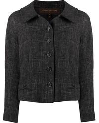 Louis Vuitton Bow Detailing Buttoned Jacket - Grey