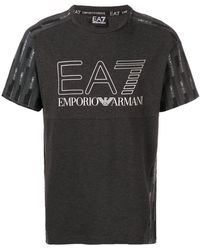 EA7 - Geometric Print T-shirt - Lyst