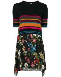 I'm Isola Marras - Stripe-floral Contrast Dress - Lyst
