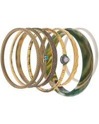 Iosselliani Elegua Set Of Bracelets - Metallic