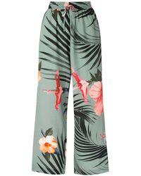 Osklen Pantaloni Hibisco Night - Verde