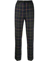 Mulberry - Pantalon crop ajusté à carreaux - Lyst