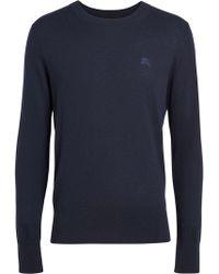 c84a956b6e11 Burberry Brit Cashmere-cotton Pullover - Black in Black for Men - Lyst
