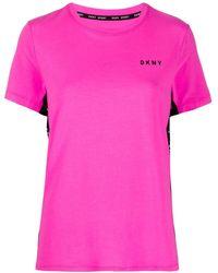 DKNY パネル Tシャツ - ピンク