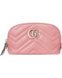Gucci 'GG Marmont' Kosmetiktasche - Pink