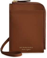 Burberry - Trench Leather Ziparound Passport Holder - Lyst