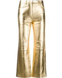 Sandro Metallic Flared Trousers