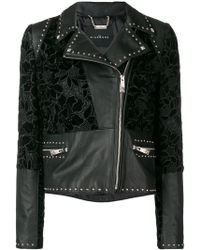 John Richmond - Floral Pattern Biker Jacket - Lyst