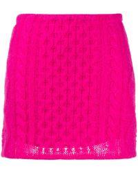 Laneus Cable-knit Mini Skirt - Pink