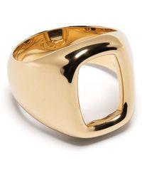 Ivi Toy Signet Ring - Metallic