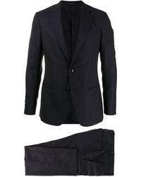 Giorgio Armani Textured Two-piece Suit - Blue
