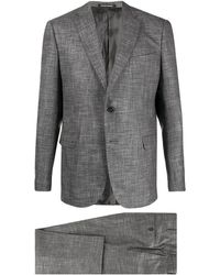Emporio Armani Fitted Two-piece Suit - Grey