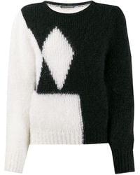 ALEXACHUNG - Contrast Long-sleeve Sweater - Lyst