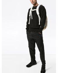 Champion ロゴ スウェットシャツ - ブラック