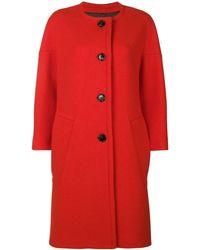 Marni Пальто С Круглым Вырезом - Красный