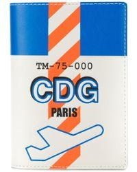 Tila March Cdg Paris Passport Cover - Blue