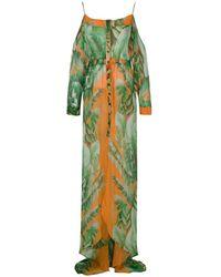 Amir Slama Vestido largo estampado - Verde