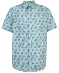 Michael Bastian Palm tree shirt - Blau