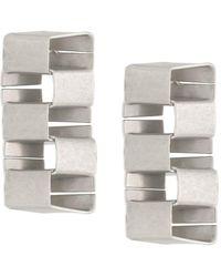 Heron Preston Multi Cubic Earrings Silver No Color - メタリック
