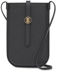 Burberry Cover per smartphone con monogramma - Nero