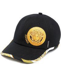 Versace Gorra con motivo de cabeza de Medusa - Negro