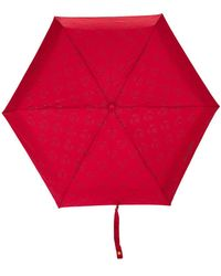Moschino Parapluie à logo ourson imprimé - Rouge