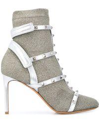 Valentino Garavani Rockstud Bodytech Sock Booties - Metallic