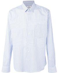 AMI ストライプ柄パネルシャツ - マルチカラー
