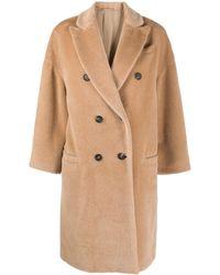 Brunello Cucinelli Двубортное Пальто - Естественный