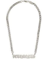 Vetements Halsketting Met Logo Hanger - Metallic