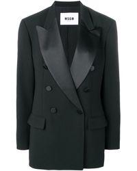 MSGM Tailored Fit Blazer - Black