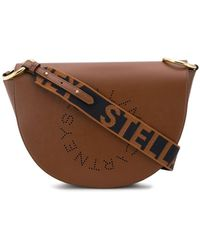Stella McCartney Stella Logo Saddle Bag - Brown