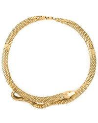 Aurelie Bidermann - 'tao' Snake Necklace - Lyst