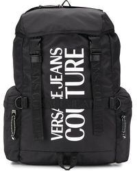 Versace Jeans Couture Printed Logo Backpack - Black