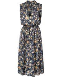 Adam Lippes Patterned Dress - Blue