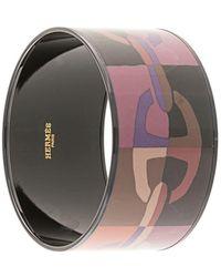 Hermès Bracelet manchette Cloisonne Ware - Noir