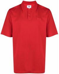 Y-3 Рубашка Поло С Логотипом - Красный