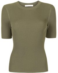 Dion Lee Ribbed-knit Top - Green