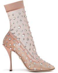 Dolce & Gabbana Laarzen Verfraaid Met Kristallen - Meerkleurig