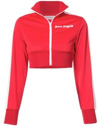 Palm Angels - Cropped Track Top - Lyst