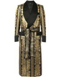 Dolce & Gabbana Barocco Jaquard Robe - Metallic