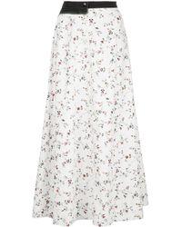Marine Serre Floral-print Maxi Skirt - White