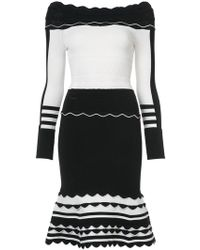 Yigal Azrouël Striped knit dress - Noir