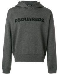 DSquared² legging Met Geprint Logo - Grijs