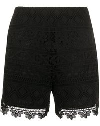 Vivetta Scalloped Hem Shorts - Black