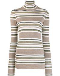 Brunello Cucinelli Horizontal Stripes Jumper - Brown