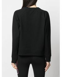 DKNY ロゴ スウェットシャツ - ブラック